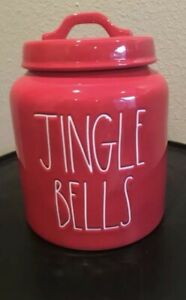 Rae-Dunn-Red-Jingle-Bells-Canister-LL-2018-FREE-SHIPPING