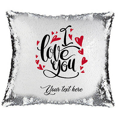 Personalised Pony Sequin Cushion Cover Just A Girl Who Loves To Ride Lovely Gift