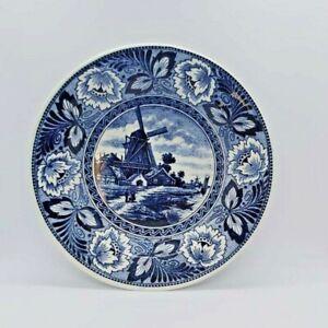 Delft Boch Plate-Ceramic-Handpainted-1900's-Ornamental-Original Vintage