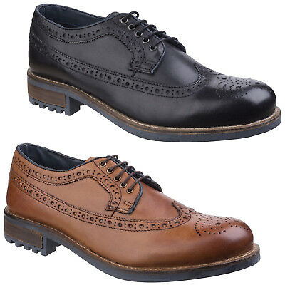 Cotswold Poplar Brogue Mens Dress Shoe Leather Lace Up Formal Wing Tip Footwear Online Shop