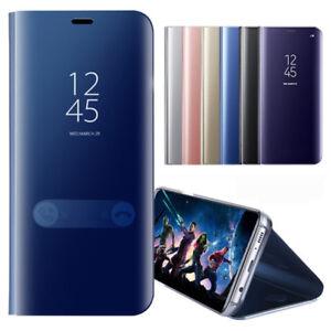 HANDYHULLE-Fuer-Samsung-Spiegel-Flip-Clear-View-Stand-Case-Schutzhuelle-tasche-S8