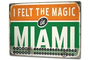 Calendario-perpetuo-Retro-Wall-Art-Metropole-Miami-USA-Metal-Imantado