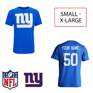 PERSONALISED New York Giants Adult Kids NFL TShirt Name Number AMERICAN FOOTBALL