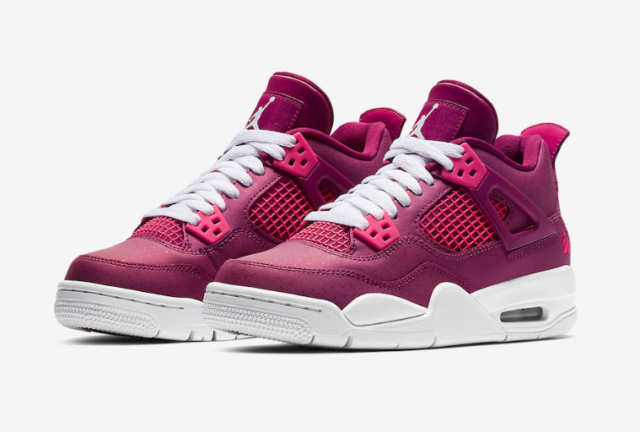 Nike Air Jordan Retro 4 GS Youth For The Love Of The Game Berry Rush Pink