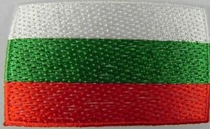 Bulgarien-Aufnaeher-gestickt-Flagge-Fahne-Patch-Aufbuegler-6-5cm-neu
