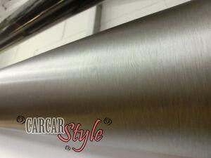 Bulle Gratuit Brossé Alumium Vinyle Flex Wrap Autocollant 1520 mm x 300 mm
