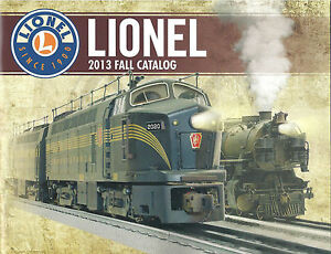 2013 Lionel Trains Fall Toy Train 59-Page Catalog ~ New!