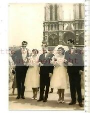 ORIGINAL PRESSEFOTO: 1959 MARIAGE HONGROIS a NOTRE DAME PARIS - FELIX MARTEN