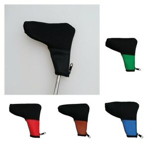 Deluxe-Mesh-amp-PU-Golf-Blade-Putter-Headcover-Club-Head-Protective-Cover-Case