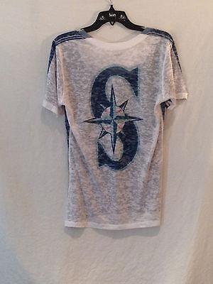 Weitere Ballsportarten Sport Freundschaftlich Seattle Seeleute Alyssa Milano Touch Sammlung Burnout T-shirt #1 Fan Fav-large