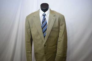 1283-Mens-Ralph-Lauren-Chaps-Silk-Wool-Plaid-Sports-Blazer-Jacket-Size-42-L