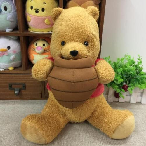 Disney Christopher Robin Plush Doll Winnie The Pooh with honey 35cm Japan