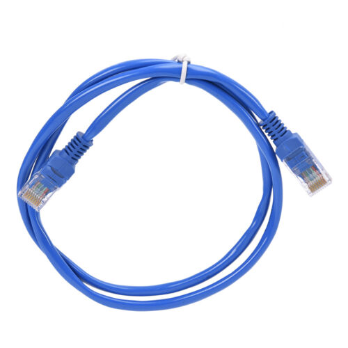1m Blue CAT5E Ethernet LAN Network Cable for Computer Router CAT 5 E 3ft T a~