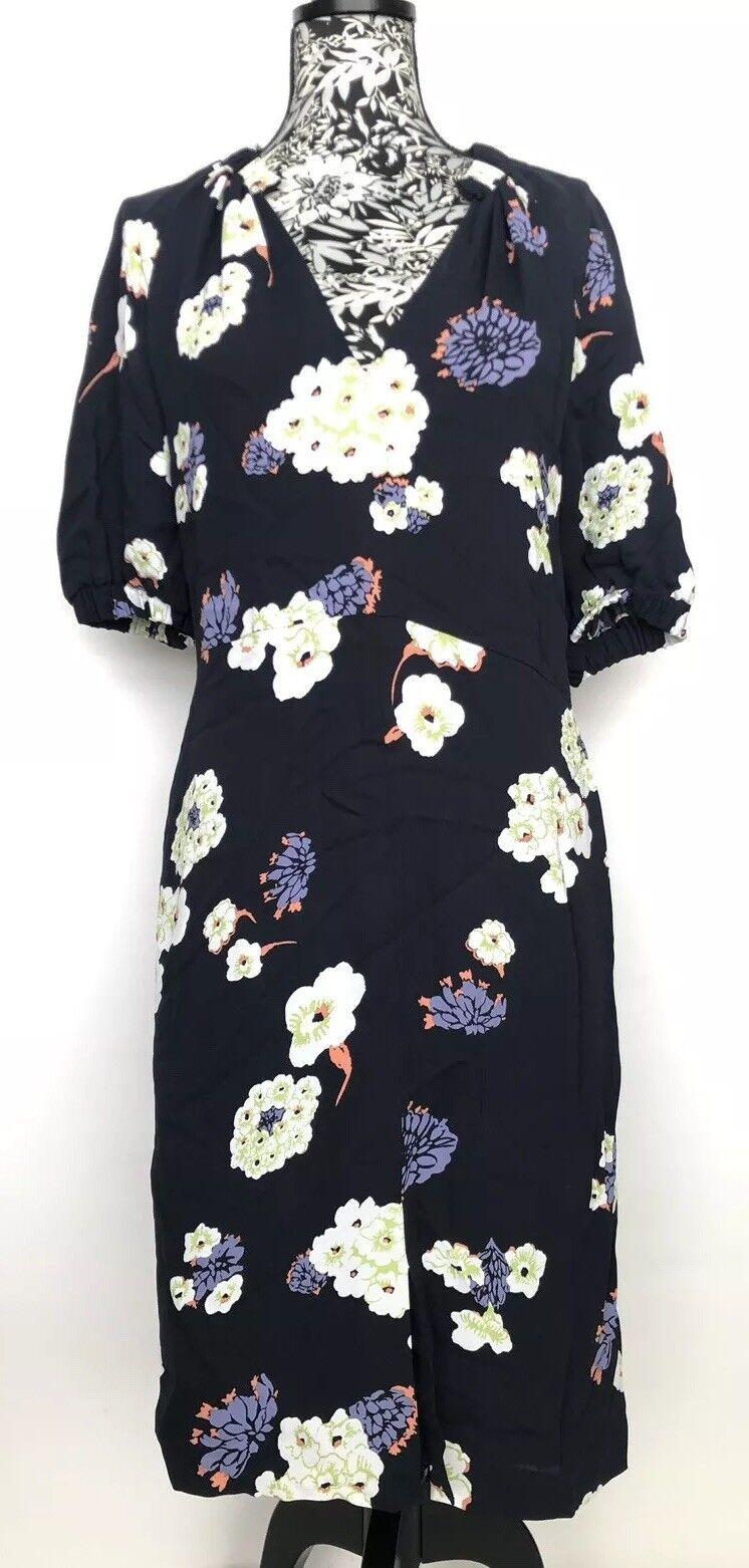 Lewit kvinnor Dress Storlek 8 NWT Floral Viskose