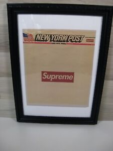 Framed Supreme New York NY Post Newspaper - Outer Cover Only August 2018