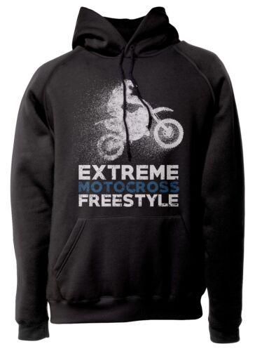"""Felpa con cappuccio /""""Extreme Motocross Freestyle Mc001/"""" 80/% cotone 20/%poliestere"""