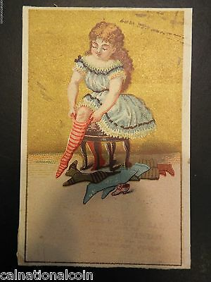 Ray Agent For Butterick's Pattern's Antique Trade Card Bright Luster Nellie A Mrs