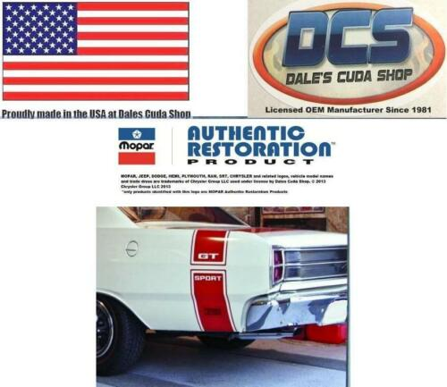 Select Black White Red USA 1969 Dodge Dart GTS Tape Stripe Kit