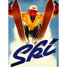 ART PRINT POSTER ADVERT SPORT CLOTHES JANTZEN WINTER SKI SNOW SLALOM NOFL0484