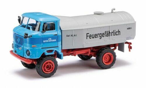 Neu H0 IFA W50 mit Tank Roter Oktober Busch 95261-1//87