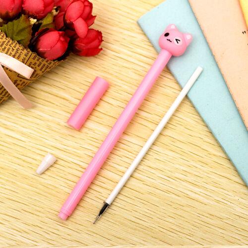 6Pcs Cute Kawaii Funny Cartoon bear Lot Novelty pens Stationery Gel Ink Pen gift