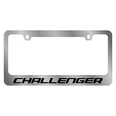 EuroSport Daytona - Chrome License Plate Frame With Dodge Challenger ...