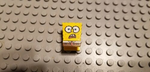 Lego Lot of x1 SpongeBob SquarePants Minifigure Head only /'/'Shocked Face/'/'