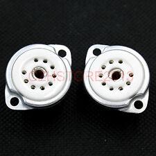 2PCS Ceramic 12AX7 EL84 6DJ8 12AT7 ECC83 6992 5670 9Pin B9A Vacuum Tube Socket