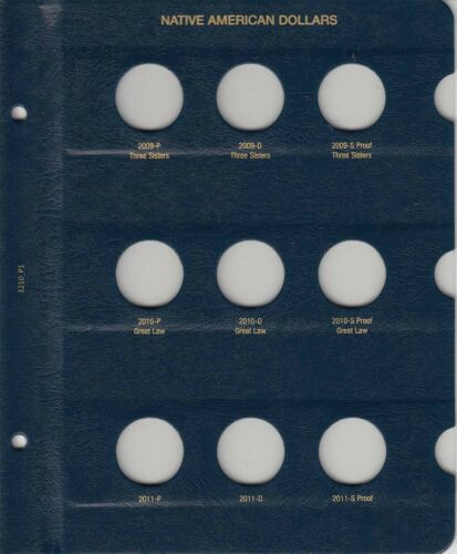 Native American Dollars Coins Album 2009-Date Whitman 3210 Free Shipping Deal