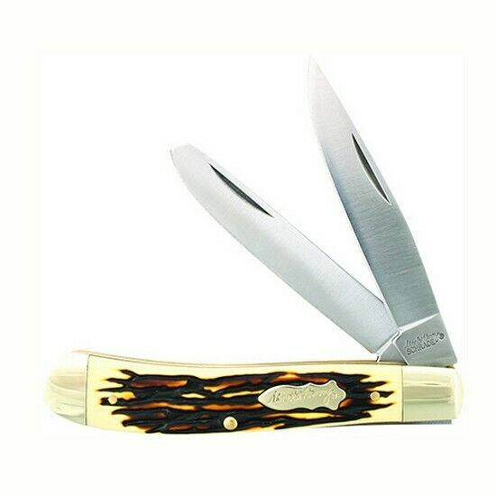 Uncle Henry 285UHCP Pro Trapper Brown Stag Folding Knife 2-Blade Clip
