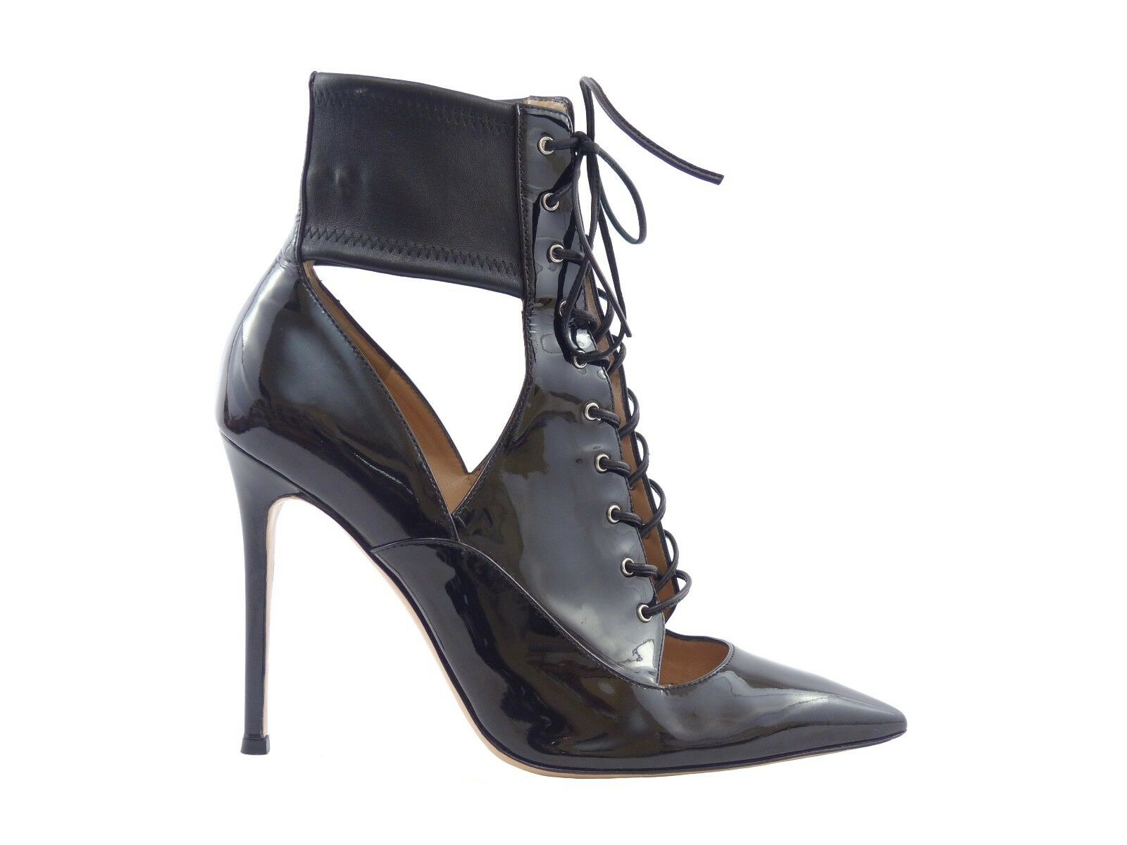 Gianvito Rossi Rossi Rossi Lace-up Black Patent Leather Ankle Boots 8b19d6
