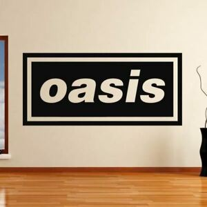 Oasis Band Vinyl Decal 12 Colours 4 Sizes Gallagher Wall Window Laptop Sticker