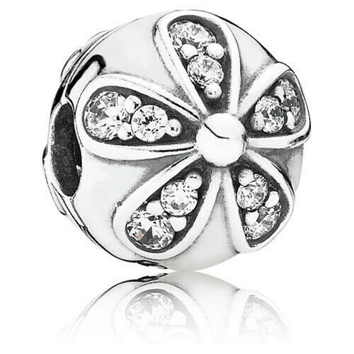 New Authentic Pandora Charm Dazzling Daisies Clip 791493CZ Sterling Silver