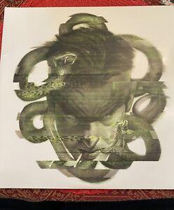 Metal Gear Solid Vinyl Record 2 LP Soundtrack Green w/ White Splatter *Cracked*