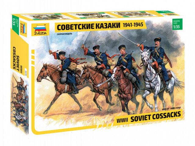 Zvezda 3579-1/35 Set Figuras WWII Soviético Cossacks 1941-1945 - Nuevo