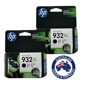 2 x Genuine HP932XL Black Ink Cartridge For HP Officejet 6100 6600 6700 7612