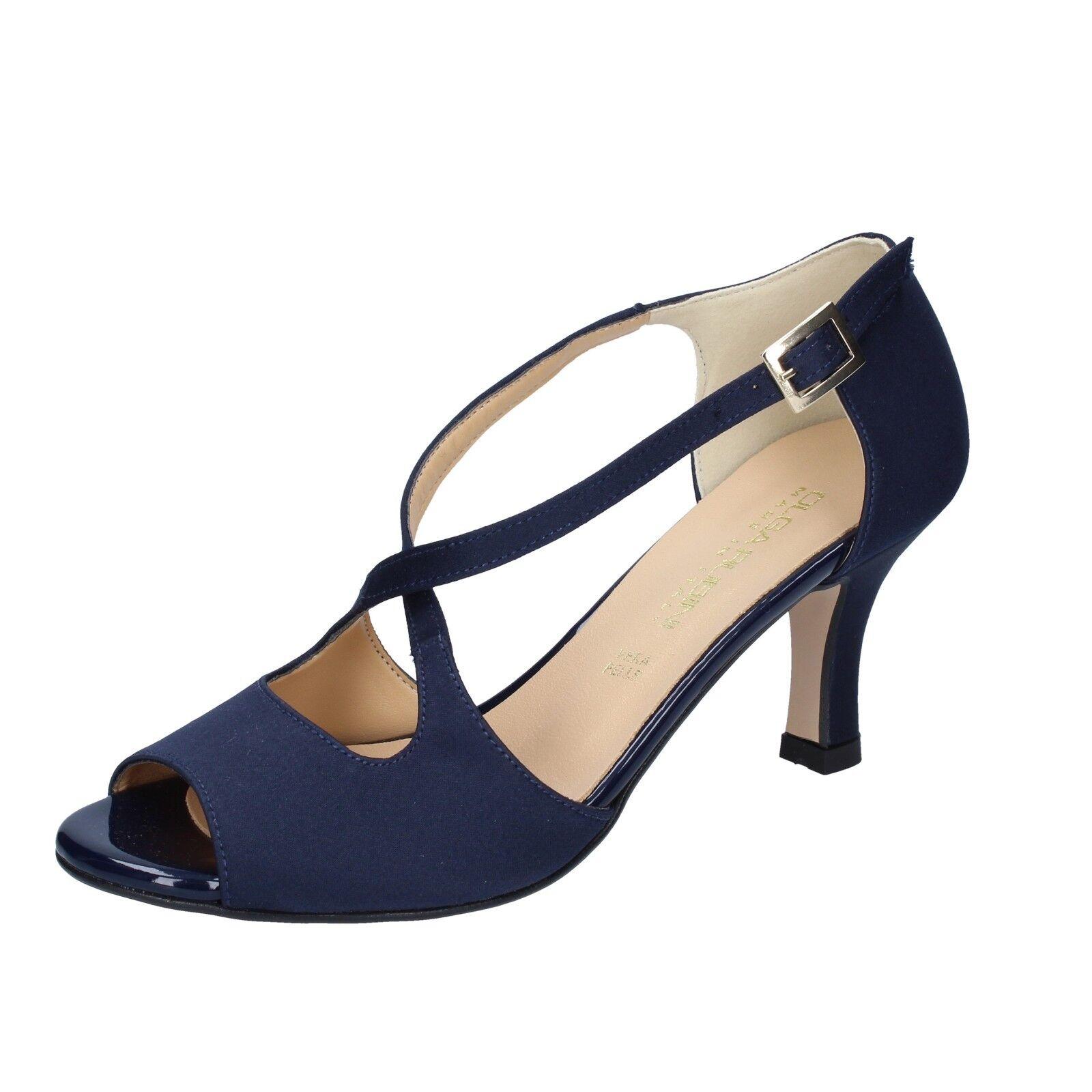 Women's shoes OLGA RUBINI 3 (EU 36) sandals bluee satin BS119-36