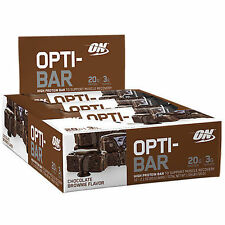 Optimum Nutrition OPTI-BAR - Chocolate Brownie, 12 Protein Bars