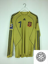 SPAIN DAVID VILLA *MATCH WORN* 2008 WC Qualifier Away Football Shirt (L) Jersey
