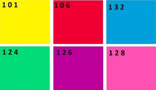 6er set par 56 farbfolien 19 x 19 cm filtros de color farbfolie par56 filtro Mix nuevo
