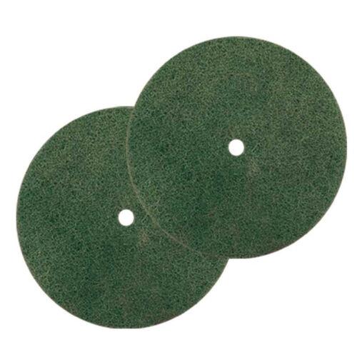 2 Genuine Koblenz Green Scrubbing Pads w// retainer clips 45-0104-05