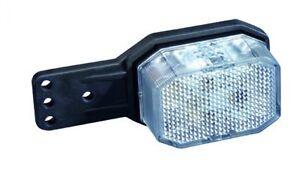 Aspöck-Flexipoint Umrißleuchte LED rot/ weiß mit geraden Halter, 3 m DC-Kabel