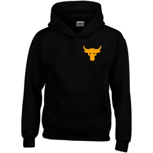 Brahma Bull Hoodie Pocket The Rock Project Gym Bodybuilding MMA Workout Men Top