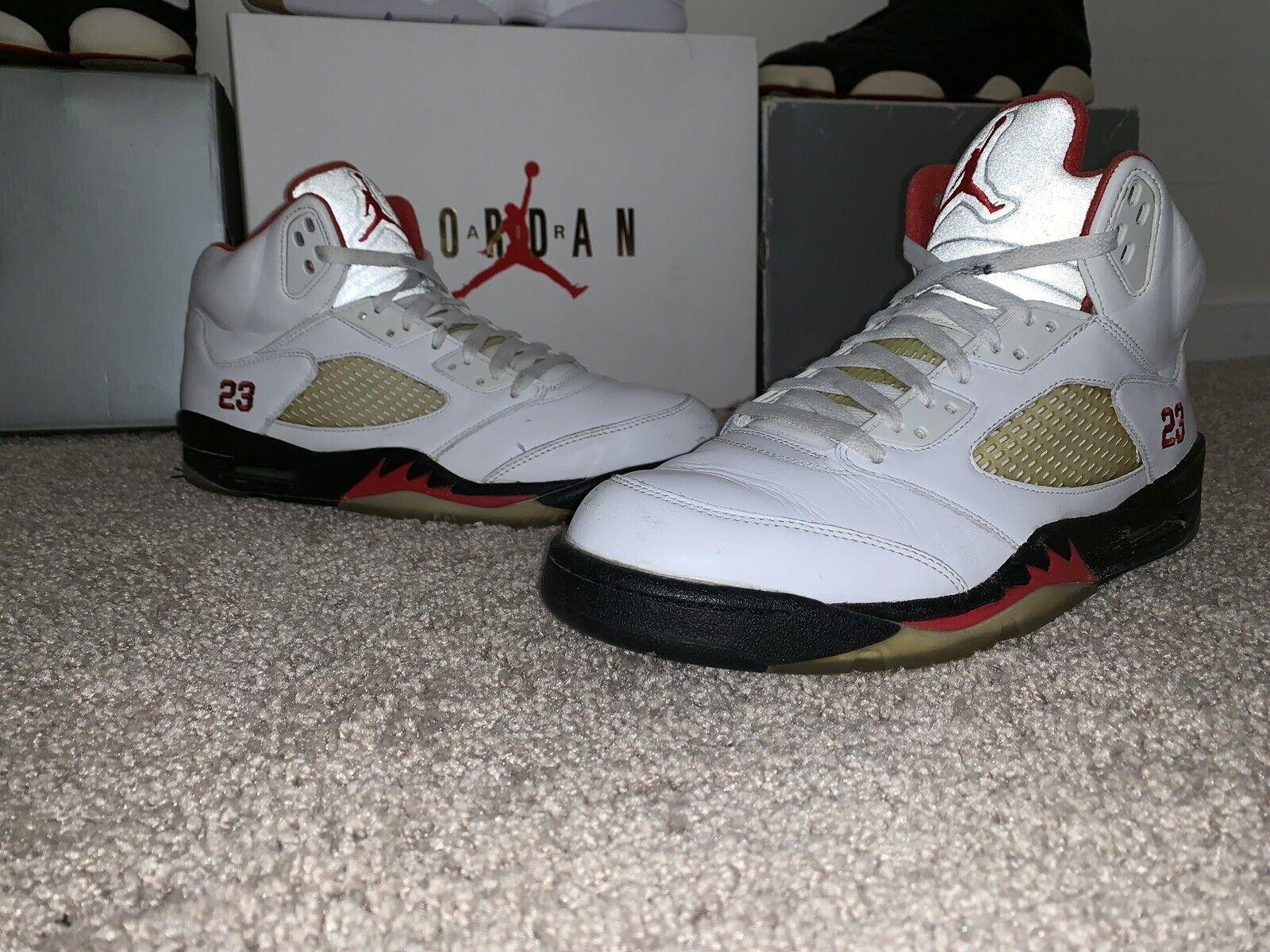 "online store 43b07 27f54 Nike Air Jordan 5 Retro Fire Red ""CDP"" Size 12 12 12 -Jordan"