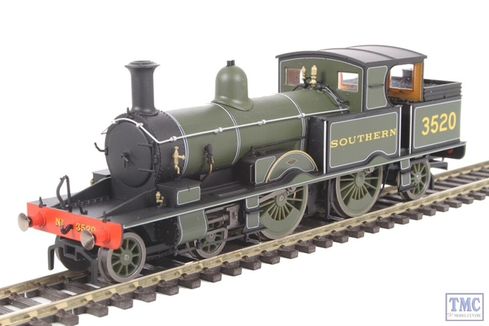 OR76AR006 Oxford Rail OO Gauge Adams Radial 4-4-2T 3520 Southern Grün
