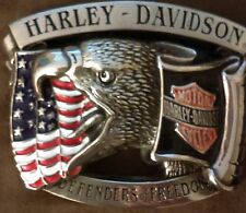 1993 Baron Harley Davidson Brass Belt Buckle H-555