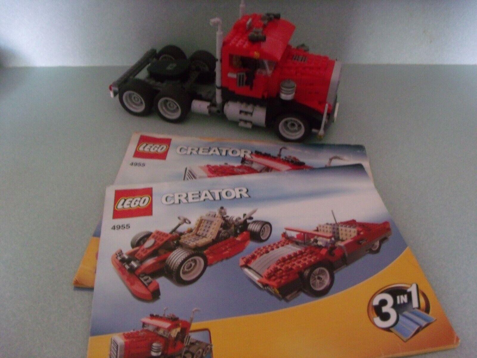 LEGO CREATOR 4955 Big Rig 100% Complete Built & Instructions