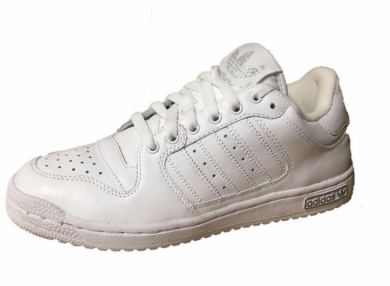 Adidas originali decennio basso uomini cuoio scarpe di cuoio uomini / scarpe 021266 bianco / slver 981ff0