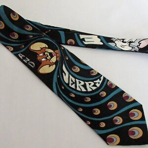 Vintage-Tom-and-Jerry-Handmade-Turner-Entertainment-Novelty-Necktie-100-Silk