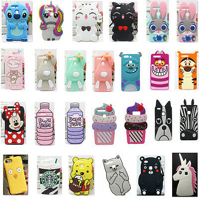 New Cute Cartoon Soft Silicone Back Rubber Cover Case Skin For Huawei P10 Plus L
